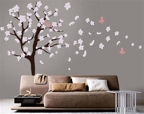 Items similar to Tree Wall Decal - White Cherry Blossom