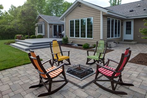 Paver Patio, Fire-Pit, Outdoor living space - GreenLawn by