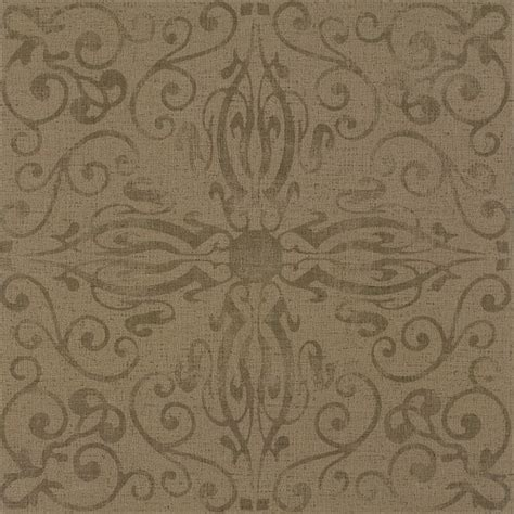 Patterned 1970s style vinyl flooring from Armstrong - cork