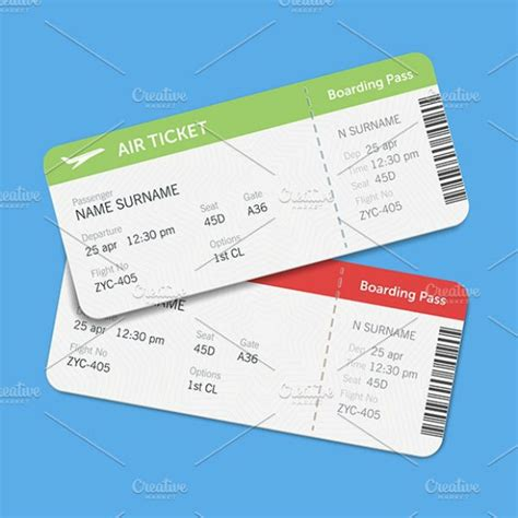 20+ Best Airline Ticket Templates - Illustrator, Pages