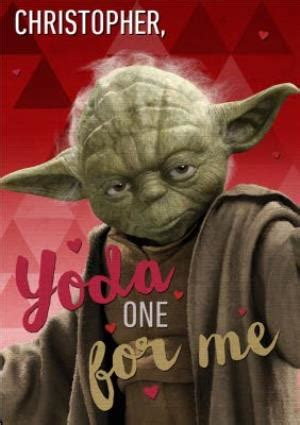 Star Wars Yoda One For Me Funny Valentines Day Card   Moonpig