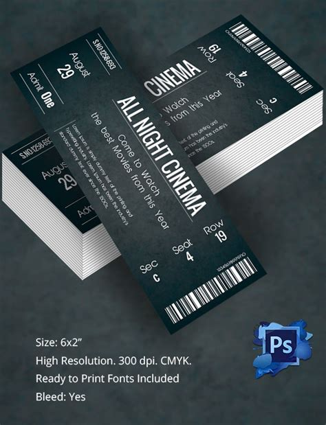 Ticket Template – 91+ Free Word, Excel, PDF, PSD, EPS