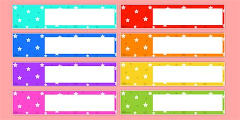 Star Themed Editable Gratnells Tray Labels - tray label
