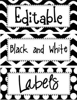 Editable Black and White Labels by The Enlightened
