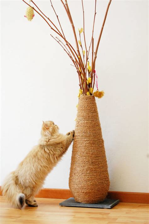 DIY Vase Scratching Post (Update) | Meow Lifestyle
