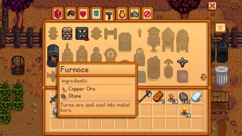 Stardew Valley: Copper Ore, Coal and Metal Bars
