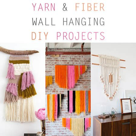 Yarn and Fiber Wall Hanging DIY Projects - The Cottage Market
