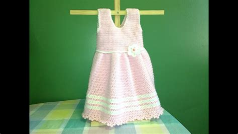 How To Crochet a Baby Dress - YouTube