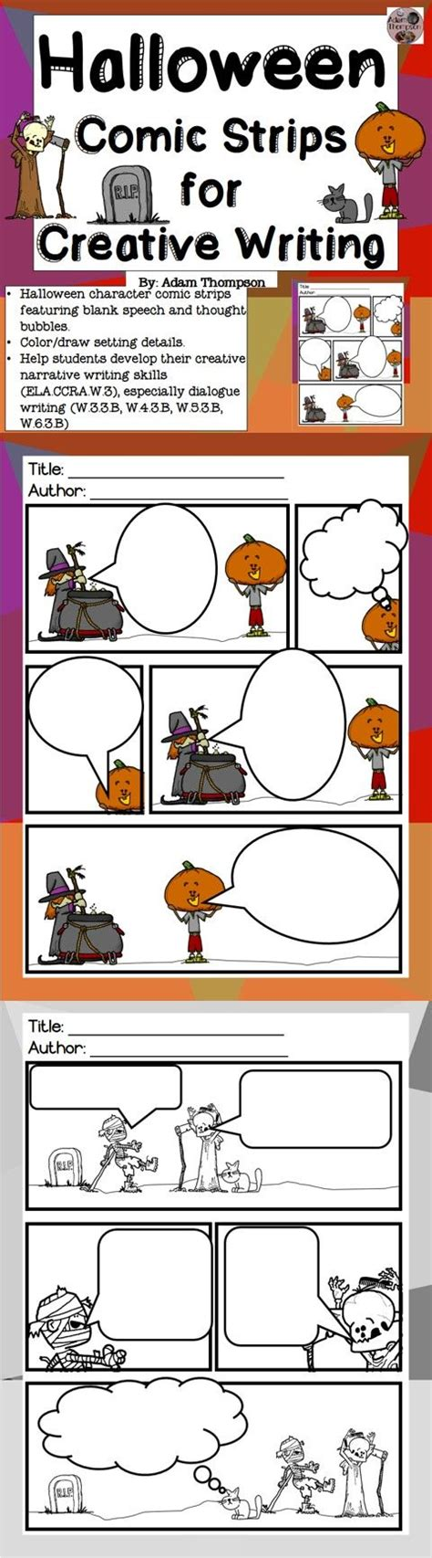 Halloween Writing Comic Strips   Thought bubbles, Writing