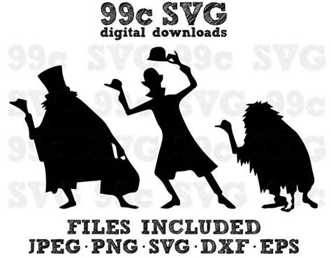 Hitchhiking Ghosts Disney SVG DXF Png Vector Cut File Cricut
