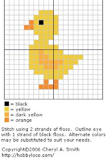 Craft for the Crafty: Duckling Cross Stitch Pattern