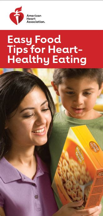 Easy Food Tips for Heart-Healthy Eating Brochure   Go Red