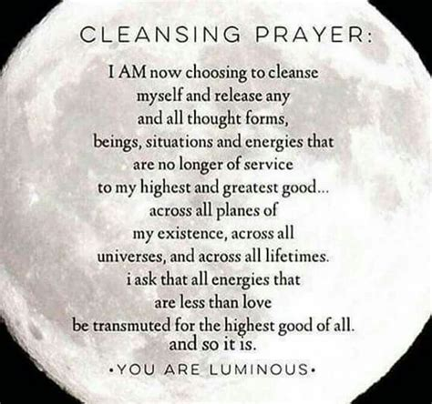 Cleansing | Cleansing prayer, Smudging prayer, New moon