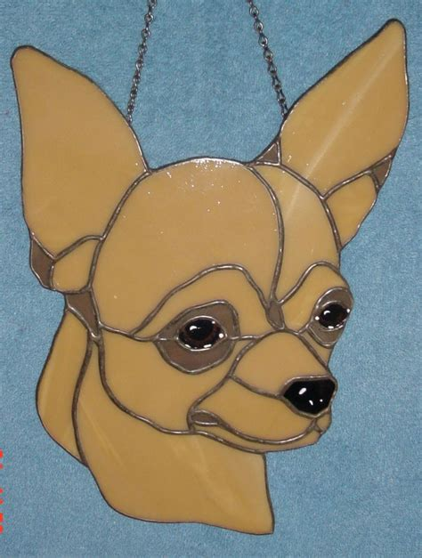 Chihuahua stained glass - my design | My Stained Glass