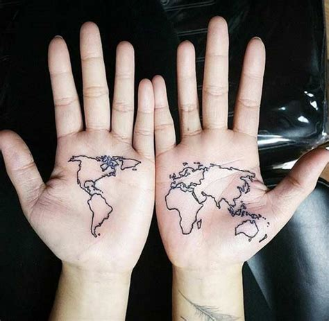 40 World Map Tattoos That Will Ignite Your Inner Travel