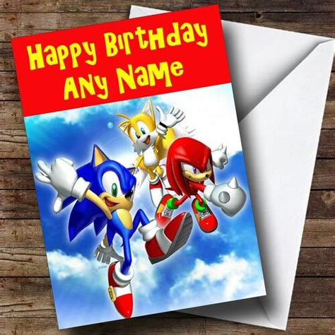 Sonic The Hedgehog Personalised Birthday Card - The Card Zoo