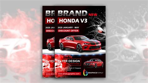 Free Photoshop Car Flyer Design Template – GraphicsFamily