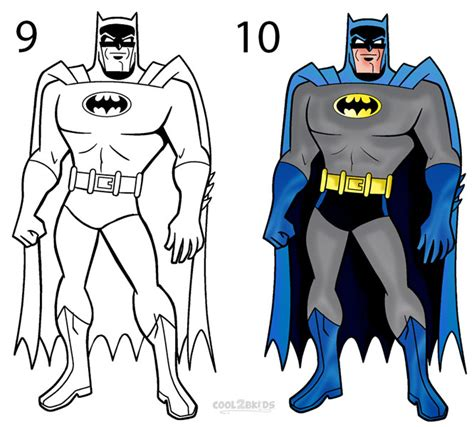 How to draw Batman (Step by Step Pictures)