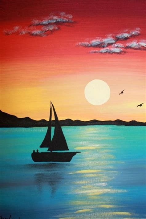 30 Amazing Acrylic Paintings For Beginners - Buzz Hippy