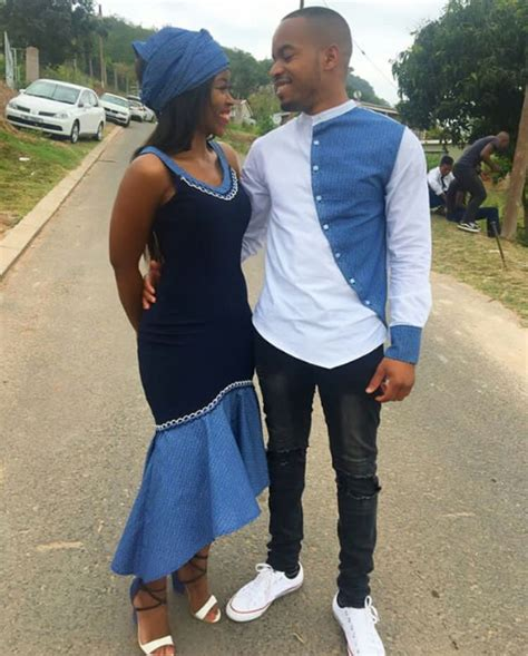 His & Hers Bespoke Shweshwe Inspired Outfit – Clipkulture