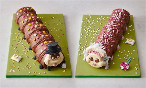 Colin the caterpillar cake and Connie are getting married!