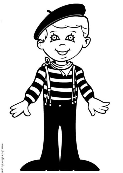 Coloring Page Luc from France - free printable coloring