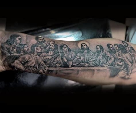 40 Last Supper Tattoo Designs For Men - Christian Ink Ideas