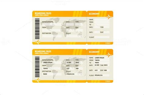 Ticket Templates – 99+ Free Word, Excel, PDF, PSD, EPS