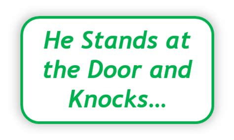 Memory Verse | Revelation 3:20 - He Stands at the Door and