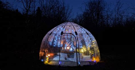 You can get a heated glowing picnic bubble installed in