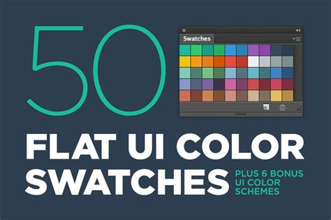 50 Flat UI color swatches ~ Illustrator Add-Ons ~ Creative