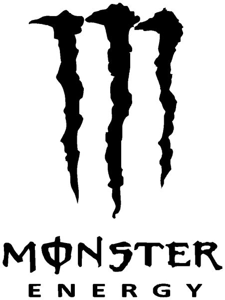 MONSTER ENERGY DECAL in over 30 different colours!