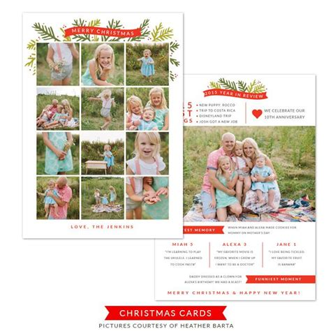 5x7 Year in review card - Christmas card template