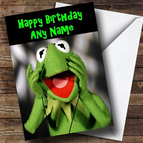 Kermit The Frog Personalised Birthday Card - The Card Zoo