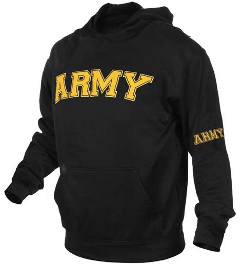 Men's Black & Gold Military Embroidered ARMY Pullover