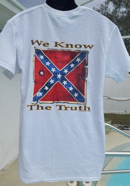 We Know The Truth Confederate Flag T-Shirt   DL Grandeurs