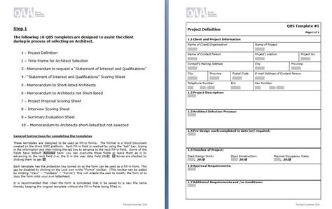 Construction scope of work template - Word - Excel - PDF