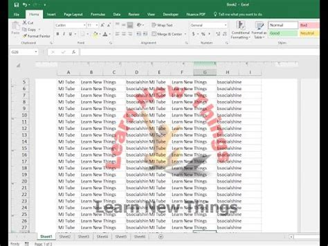How to Insert Watermark in MS Excel (Image & Text) - YouTube