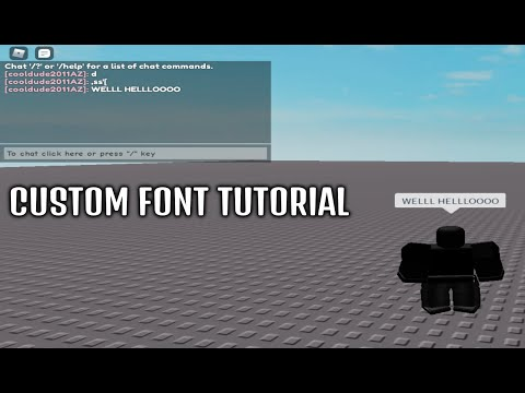 Roblox how to change the font of your speech