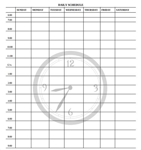 FREE 24+ Printable Daily Schedule Templates in PDF
